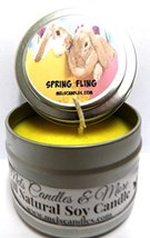 Spring Fling (Daffodil Aroma) 4oz All Natural Tin Soy Candle, Take It An... - $5.99