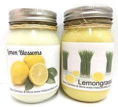 Lemongrass & Lemon Blossoms- Set of Two 16oz All Natural Soy Candles [Ki... - $26.99