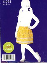 Simplicity Pattern E1968 Easy to Sew Girls Pull-On Skirt Sizes 3-4-5-6 U... - $3.00