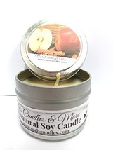 Apples & Cinnamon 4oz All Natural Soy Candle Tin, Take It Any Where [Kit... - £4.27 GBP