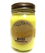 Butter 16oz Country Jar Handmade Soy Candle Approximate Burn Time 144 Hours - $12.99