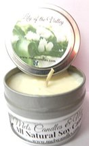 Lily of the Valley - 4oz All Natural Soy Candle Tin Approximate Burn Tim... - £4.27 GBP