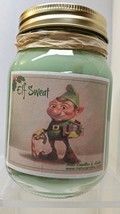 Elf Sweat 16oz All Natural Soy Candle (Candy Cane & Vanilla Aroma) [Kitc... - £7.84 GBP