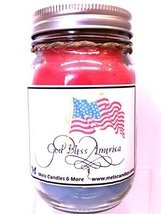God Bless the USA- Sweet American Apple Pie Aroma 16oz All Natural Soy C... - £9.27 GBP