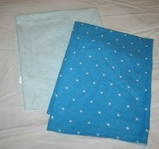 Carters FLANNEL BABY RECEIVING BLANKETS Light Blue STARS Aqua Turquoise ... - $16.42