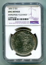 1896-O MORGAN SILVER DOLLAR NGC UNC DETAIL IMPROPERLY CLEANED NICE LOOKI... - $1,495.00