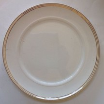 "DINNER PLATE 9"" IVORY SALEM CHINA 23 Kt GOLD TRIM SYMPHONY PATTERN VINTAGE - $3.66"