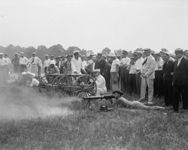Marine Corps Commandant General George Barnett fires machine gun Photo Print - $8.81+