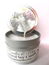 Lilac Blossoms 4oz All Natural Soy Candle Tin Approximate Burn Time 36 H... - $5.99