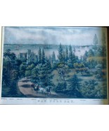 New York Bay: From Bay Ridge, L.I., Currier & Ives Litho ca. 1860. - $100.00