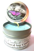 Jasmine 4oz All Natural Hand Made Soy Candle Tin Approximate Burn Time 3... - €5,04 EUR