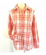 Foxcroft Size 12 Wrinkle Free Plaid Shirt - $18.98