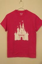 Womens Gildan New Heliconia Pink Disney Castle Short Sleeve T Shirt S M L XL 2XL - $9.95+