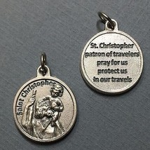 Saint St. Christopher Travelers Travel Protection Medal Charm Pendant 3/4 Inch  - $5.99