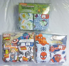 Boys Briefs Underwear 2 Packs Spider-Man TMNT and Marvel Comics Size 6 or 8 NIP - $8.79