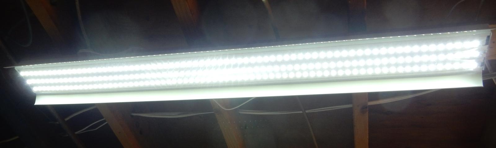 Kit: 60W Power Supply + 2x 4' LED Strips, Bright White, Florescent Tube Retrofit