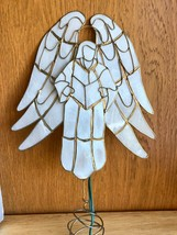 "Capiz Shell Christmas Tree Topper Angel Lighted - 8"" Tall  - $38.61"