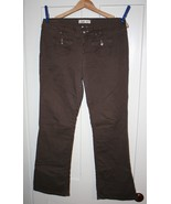 L.E.I. Juniors Wide Leg Brown Denim Jeans  SZ 9R  Good Used Condition - $4.99