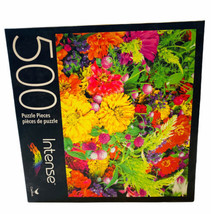 Cardinal Intense 500 Pc Puzzle Summer Flowers New Sealed - $14.84