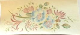 "5 Mixed Flowers Waterslide Ceramic Decals 4.5""  - $2.75"