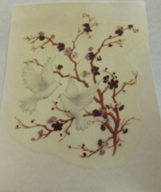 """6 Dove in a Tree with Gold Accents Waterslide Ceramic Decals 3""""  - $3.50"""