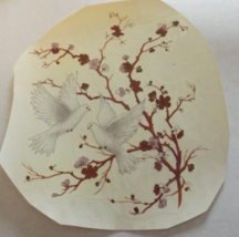 """2 Dove in a Tree with Gold Accents Waterslide Ceramic Decals 5""""  - $5.50"""