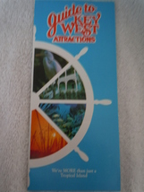Guide to Key West Attractions Brochure 1990 - $3.99