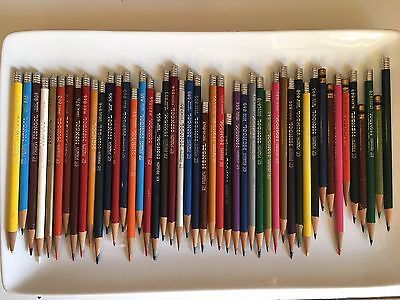 Eberhard Faber Mongol Colored Art Pencils Lot of 47 Gently Used Vintage USA made