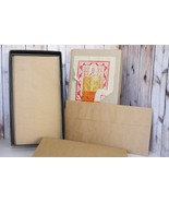 Box of 20 Calligraphy Paper and Envelopes Kraft... - $5.99