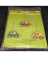 Christmas Felt Applique Bucilla Ornaments Kit, HOLIDAY CARS,#2115 NIP - $27.95