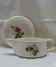 Vintage Nasco 22 kt. Gold Trim Moss Rose Pitcher // Pin Dish // Ring Dish - $12.00