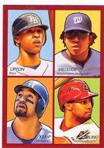 Bj UPTON/ MILLEDGE/MATT KEMP/CHRIS Young 2009 Topps Goudey 4-1 Card #35-95 - $3.95