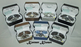 Lot of Seven - Geneva Wristwatch and Sunglasses in Case - NIB - $49.95