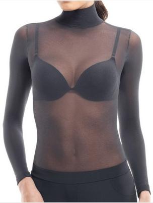 See Through Shirt Nylon BLACK High Neck / And 27 Similar Items