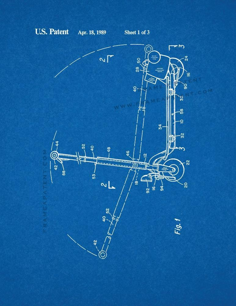 Sport Goped Motor Scooter Patent Print - Blueprint