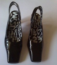 Nine West Black Patent Slingback Heels Size 7 Empower  - $19.99