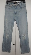 EXPRESS Embellished Low Rise Bootcut Distressed Jeans NEW Sz 5/6 (30 x 3... - $34.99
