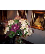 Silk Hydrangea Arrangement - $65.00