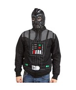 Men's Star Wars Darth Vader Character Zipped Hoodie Full Face Mask Hoode... - $39.99