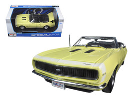 1967 Chevrolet Camaro SS 396 Convertible Yellow 1/18 Diecast Model Car b... - $52.78