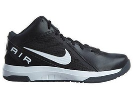 Nike Men's Air Overplay IX Basketball Shoe Black White Anthracite Grey S... - $58.05