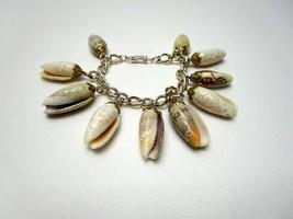 "Vintage Made in Germany Seashell Charm Bracelet Shells Over I"" Long  - $15.20"