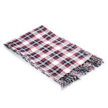 New Armani Jeans Double Sided Check Plaid Long Scarf Lightweight 100% co... - $47.49