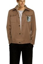 Attack on Titan Costume Survey Corps Jacket with Embroidery Recon Corps ... - $39.99
