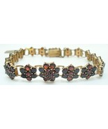 Genuine Natural Bohemian Garnet Bracelet with Safety Chain (#2500) - $423.23