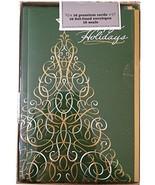 Happy Holidays Christmas Tree Premium Holiday Cards 16 Cards, Envelopes ... - $12.86