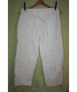 Jones New York Sport White Cotton Capris   SZ 10   Excellent Used Condition - $5.99