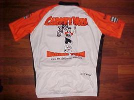 VOmax Carney Men Racing Team White Orange Unisex Cycling Jersey Extra Large 5 - $21.77