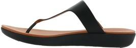 FitFlop Banda II Leather Adjustable Toe Post Sandal BLACK 7 NEW 679-496 - $91.06
