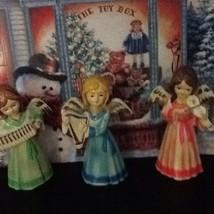 Vintage Pastel Angels Musicians Figurines Prett... - $19.95